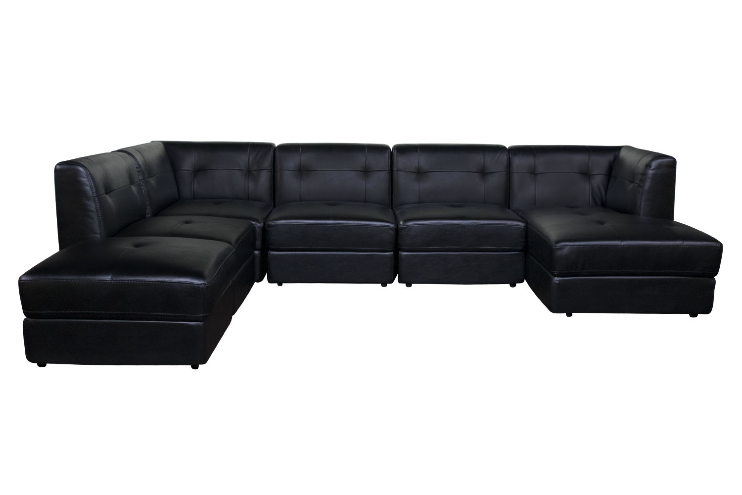 080638708 Ed 6 Piece Right Facing Sectional In Black