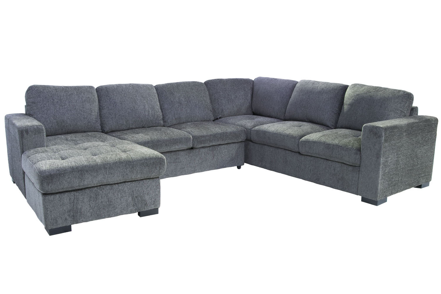279332128 Claire 3 Piece Left Facing Chaise Sectional In Gray