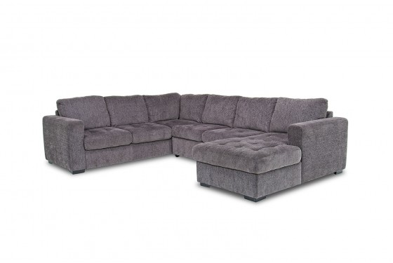 Gray Sectional Sofa with Chaise Lounge | Mor Furniture