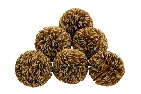 Natural Decorative Balls - Set of 6 Media Image 1