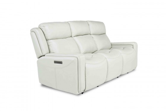 Ice 3-Power Sofa in White Media Image 1