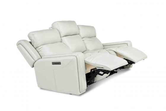 Ice 3-Power Sofa in White Media Image 4