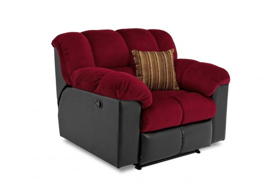Fountain Wide Recliner In Berry Mor Furniture For Less