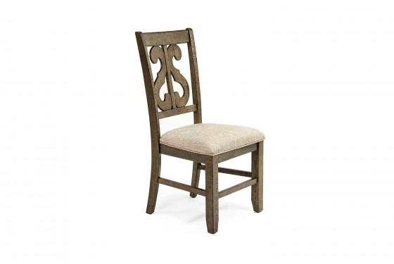 Stone Harp Back Chair in Gray Media Image 1