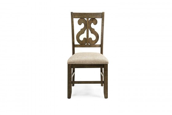 Stone Harp Back Chair in Gray Media Image 2