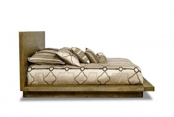 Melbourne Queen Bed in Brown Media Image 3