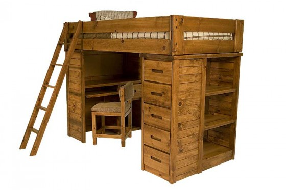 Young Pioneer Student Loft Twin Bed Media Image 1