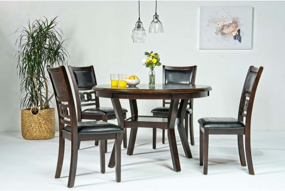 Gia Round Dining Table 4 Chairs In