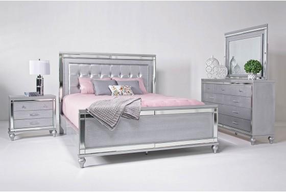 Valentino Bedroom in Silver