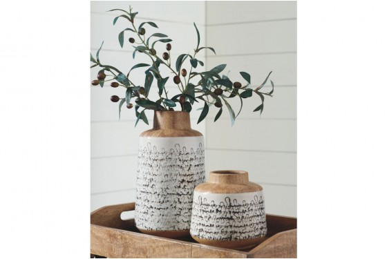 Meghan Ceramic Vases - Set of 2 Media Image 2