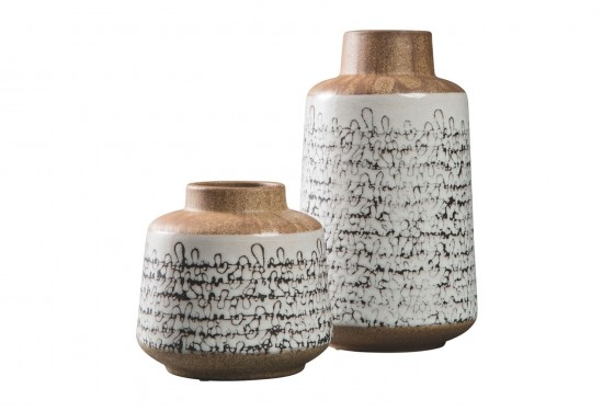 Meghan Ceramic Vases - Set of 2 Media Image 1