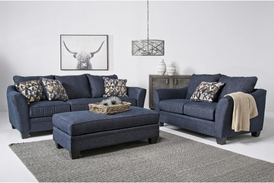 Brazil Living Room in Cobalt