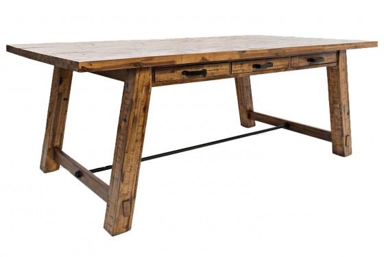 Cannon Valley Trestle Table In Brown Mor Furniture For Less