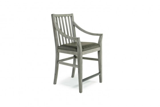 Costa Del Sol Arm Stool In Gray Mor Furniture For Less