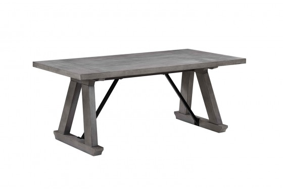 Costa Del Sol Dining Table In Gray Mor Furniture For Less