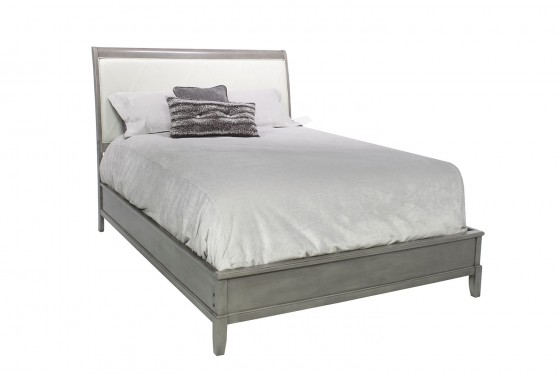 Diamond Gray CA King Bed Media Image 1