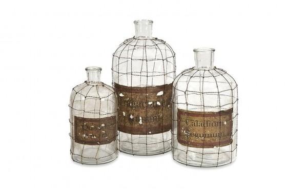 Dimora Wire Caged Bottles Media Image 1