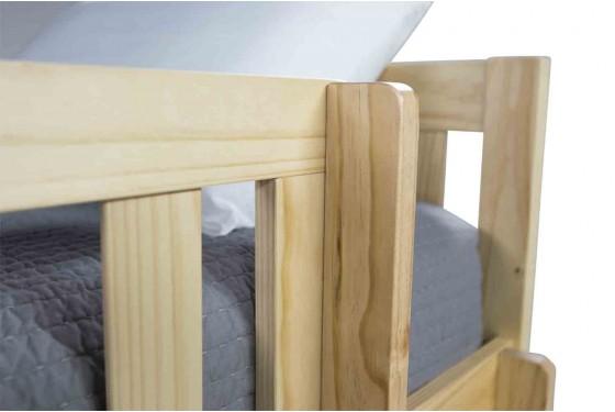 Basic Natural Full Over Full Bunk Bed Media Image 4