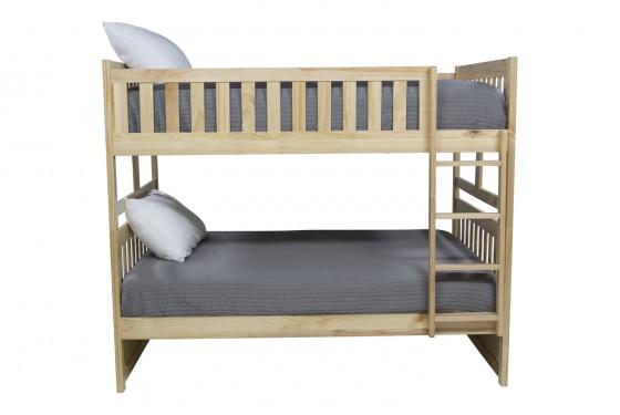 Basic Natural Full Over Full Bunk Bed Media Image 2