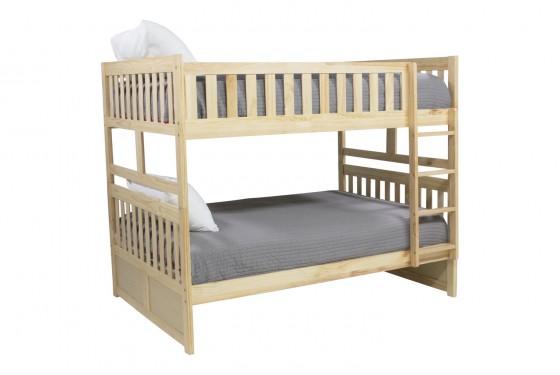 Basic Natural Full Over Full Bunk Bed Media Image 1