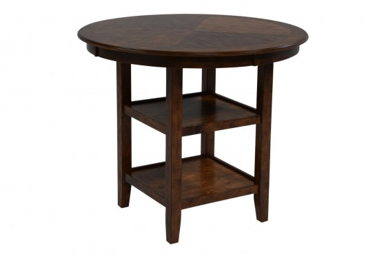 Gia Light Brown Counter-Height Table & 4 Stools Media Image 4