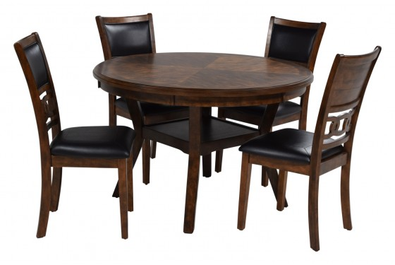 Gia Light Brown Round Table With 4 Chairs Save Mor