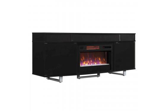 Groovy Enterprise 72 Fireplace Console In Black Mor Furniture Interior Design Ideas Philsoteloinfo