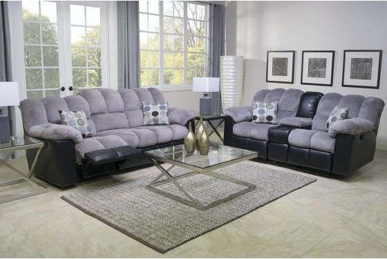 Fountain Gray Reclining Sofa Media Image 3