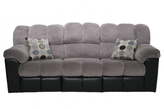 Fountain Gray Reclining Sofa Media Image 1