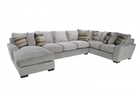 Incredible Oracle Down Left Facing Sofa Chaise Sectional In Platinum Pabps2019 Chair Design Images Pabps2019Com