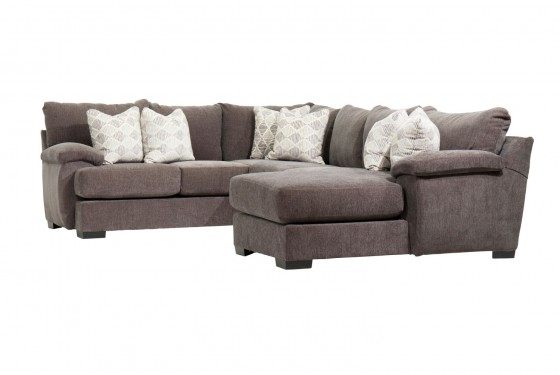 Bermuda Right-Facing Loveseat Chaise Sectional in Charcoal ...