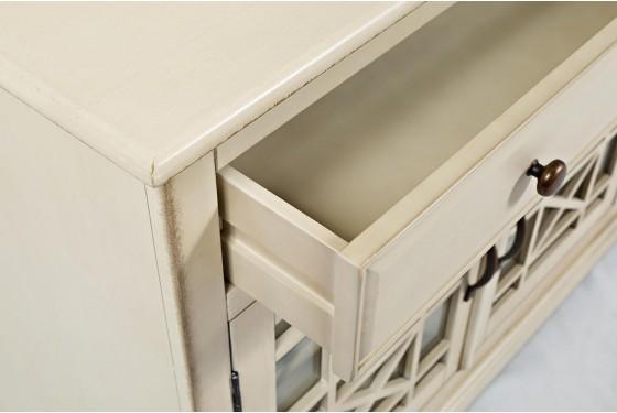 Skyy Cream Small Media Cabinet Media Image 4