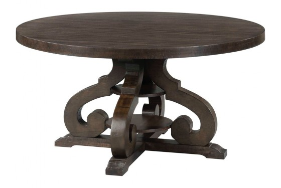 Stone Round Table Dining Room Media Image 2
