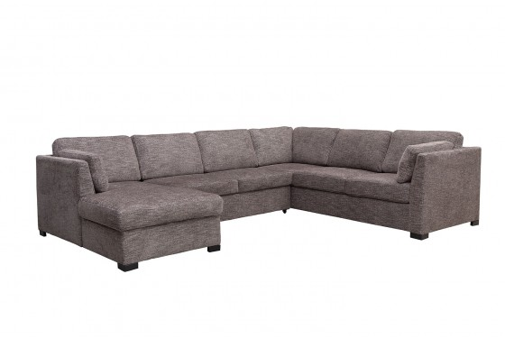 Vivian Left-Facing Sleeper Loveseat Chaise Sectional in Gray ...