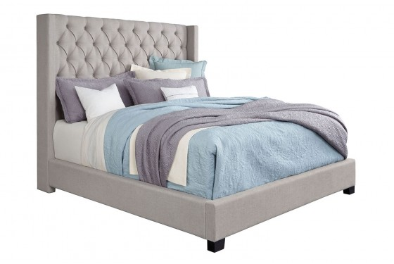 Westerly King Upholstered Bed in Gray Media Image 1