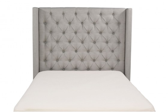 Westerly King Upholstered Bed in Gray Media Image 2