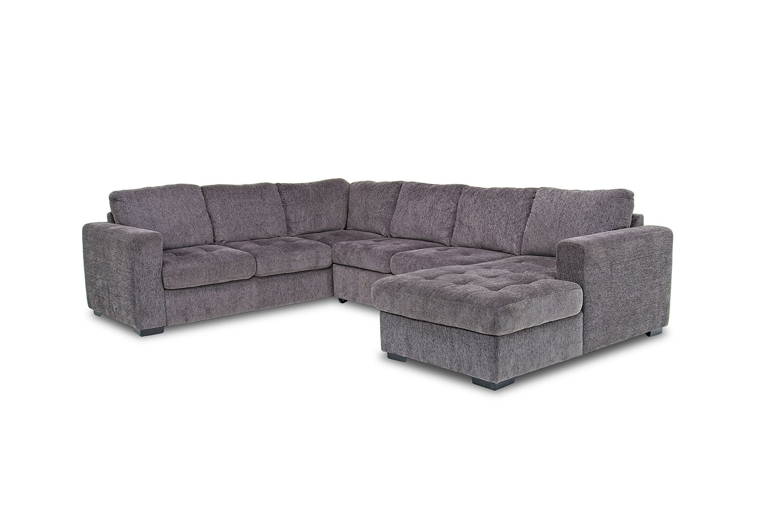 Claire 3-Piece Right-Facing Chaise Sectional in Gray | Mor Furniture ...