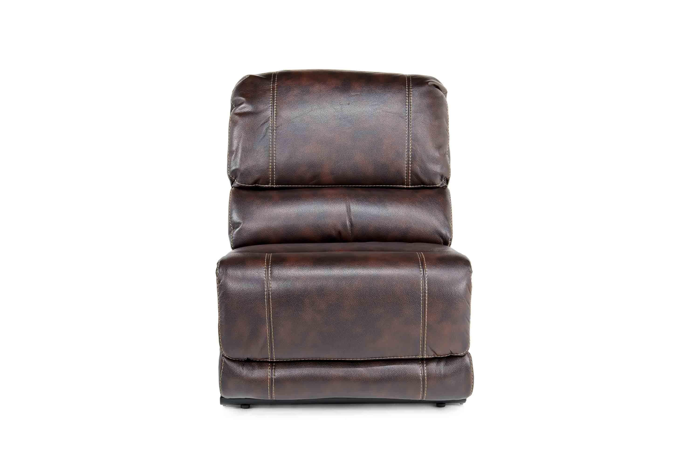 Azul Air Brown Armless Chair Media Image 1