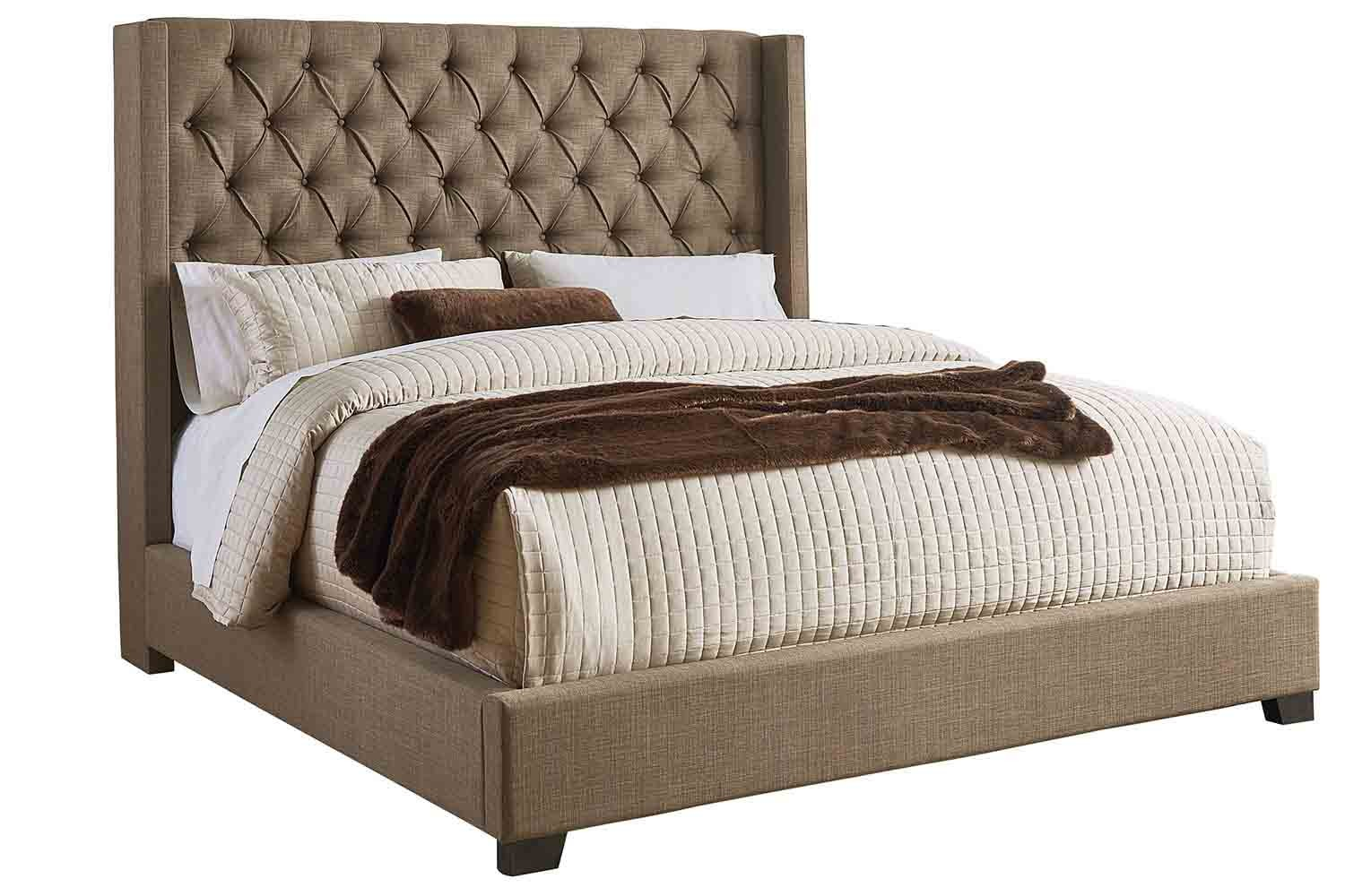 Westerly Brown Queen Bed Mor Furniture For Less