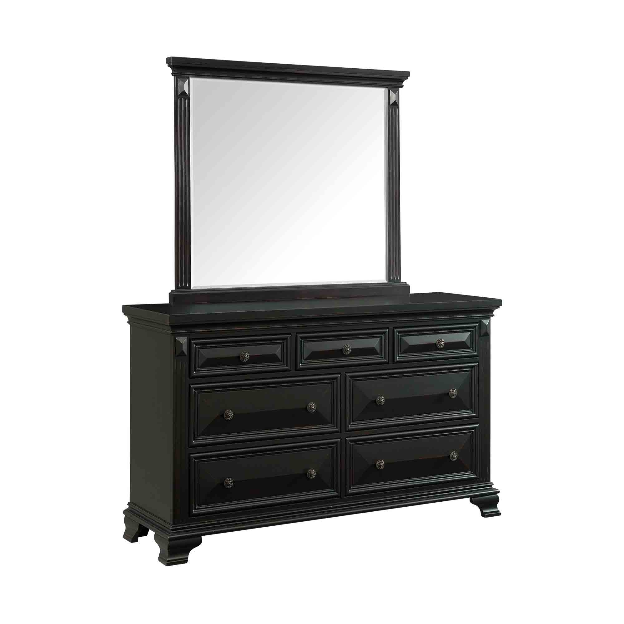 Calloway Bedroom on Mor Furniture Dresser With Mirror