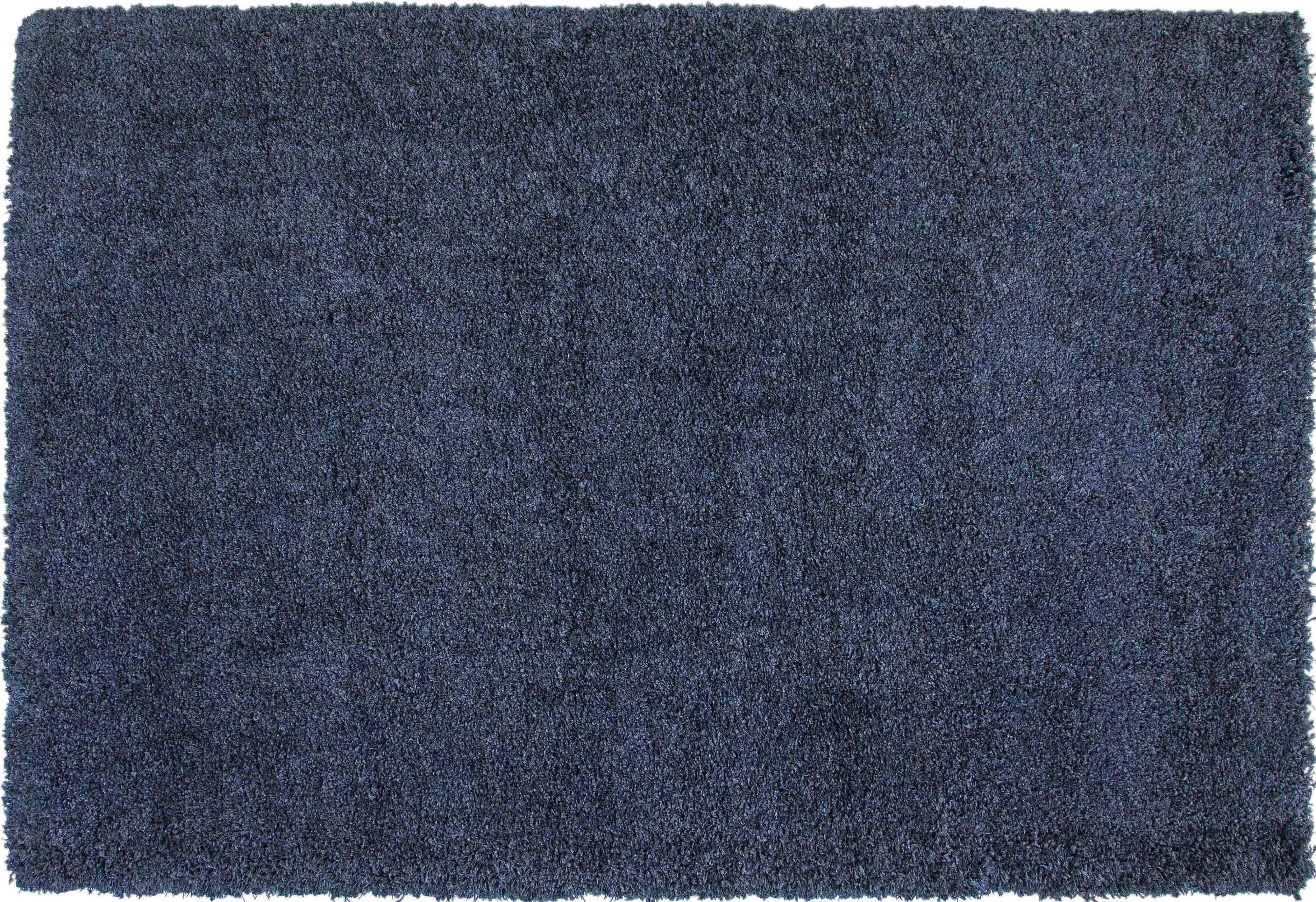 Comfort Shag Blue Rug Media Image 1