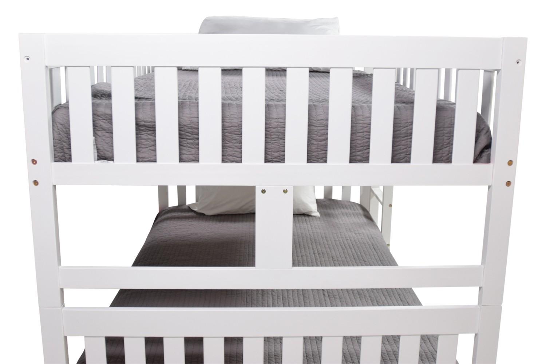 Basic Full Full Bunk Bed In White Mor Furniture For Less