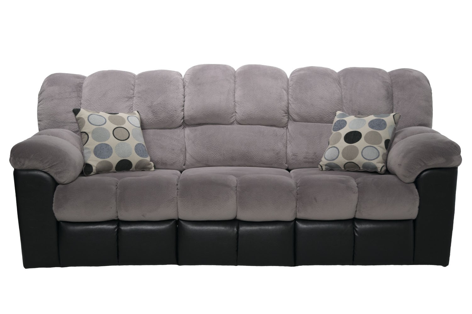 Charmant Fountain Gray Reclining Sofa Media Image 1 ...