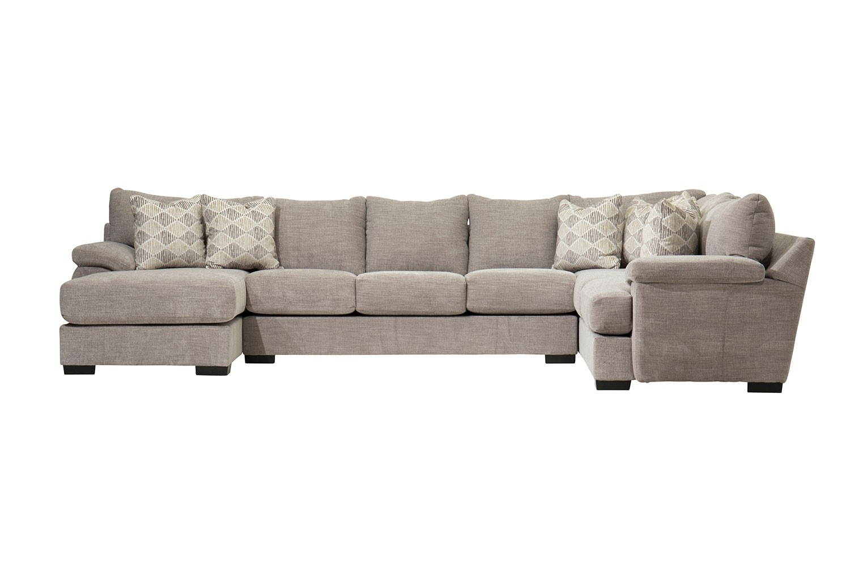 bermuda gray left facing chaise sofa sectional
