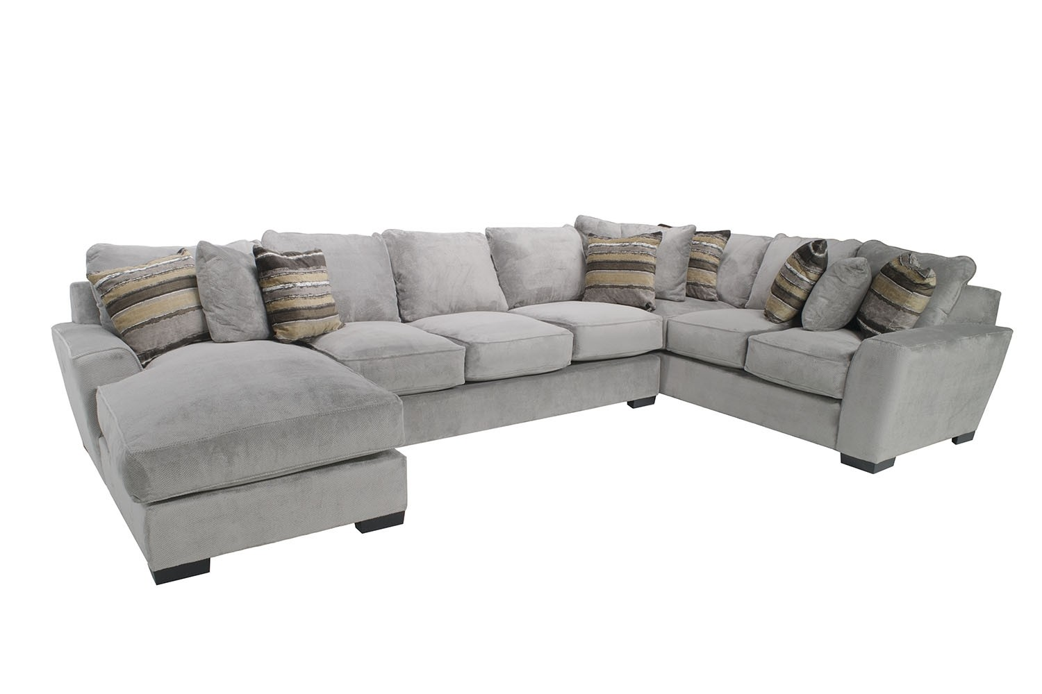 Oracle Down Left Facing Chaise Sectional In Gray Media Image 1