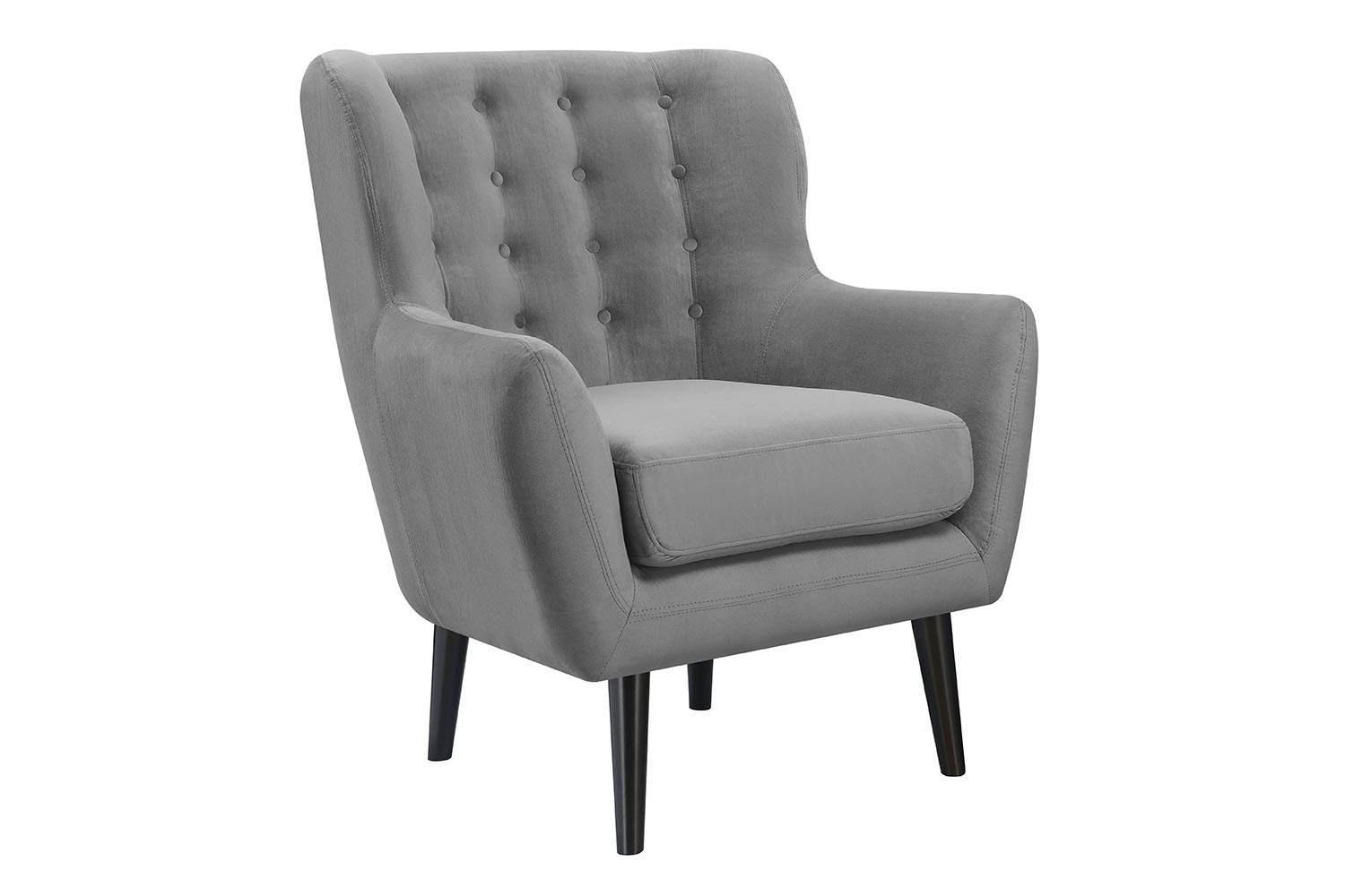 Lucy accent chair in gray