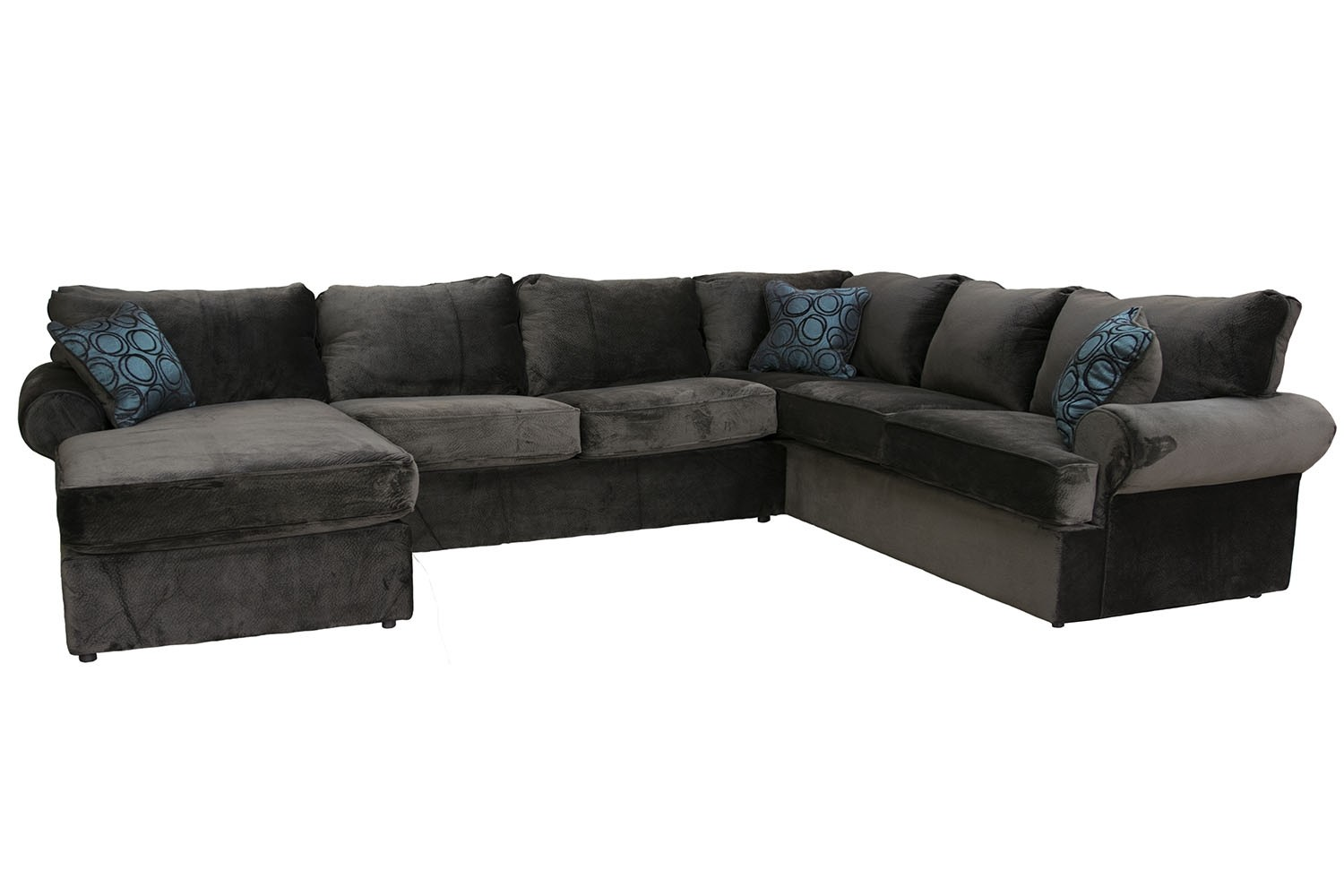 Napa Left Facing Chaise Sectional In Chocolate Media Image 1