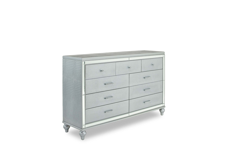 Valentino Bedroom In Silver Mor Furniture For Less