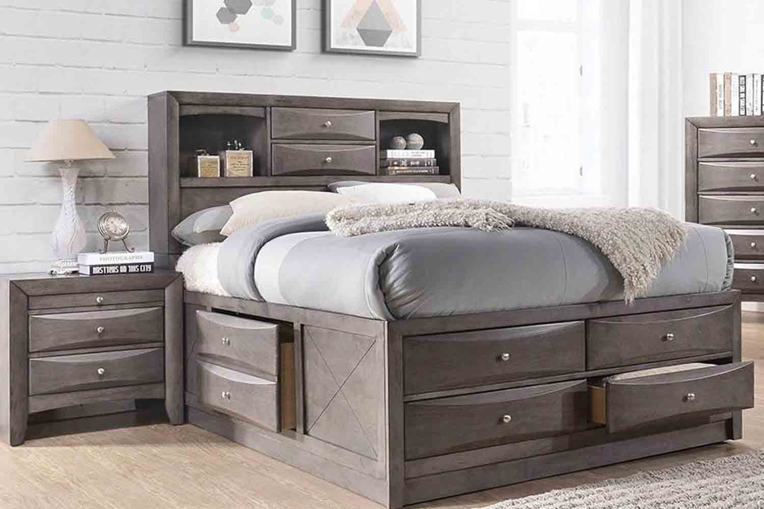 Remi Full Storage Bed Mor Furniture For Less
