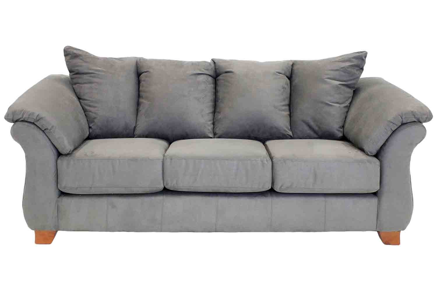 Shasta charcoal sofa mor furniture for less for Charcoal sofa